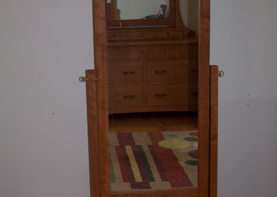 Free Standing Full Length Craftsman Mirror in Local Cherry