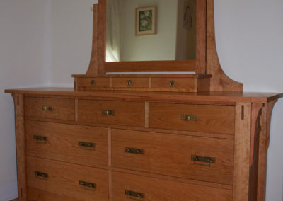 Craftsman Dresser and Mirror in local cherry