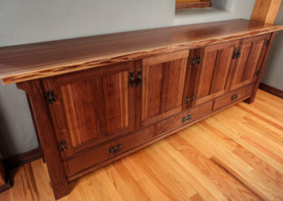 Long Walnut Dining Room Sideboard