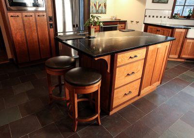 Soapstone, Cherry & Walnut Bar And Island