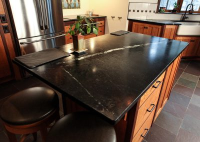Polished Soapstone Island Countertop
